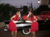 1950's vintage car and pin up girls